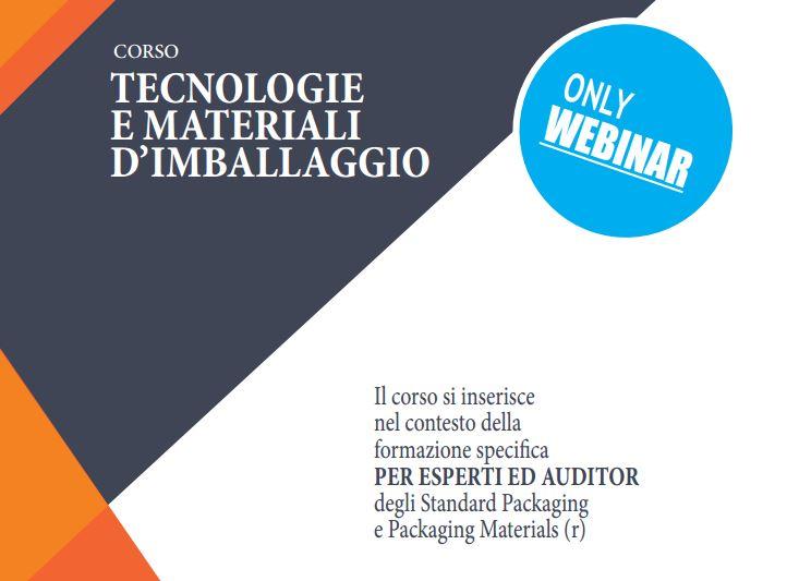 Corso tecnologie e materiali imballaggio crediti auditor