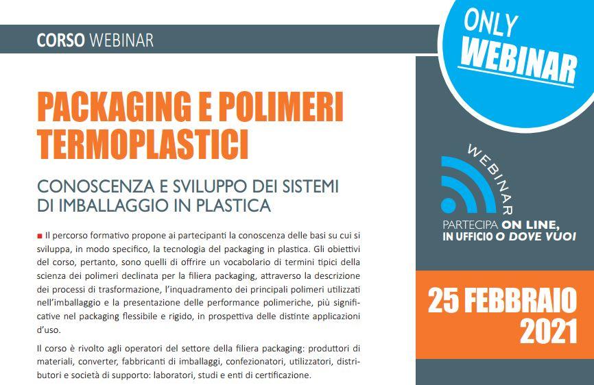 Packaging e polimeri termoplastici edizione 2021