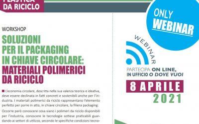 Soluzioni per il packaging in chiave circolare: materiali polimerici da riciclo. Edizione 2021