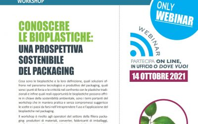 Conoscere le bioplastiche: una prospettiva sostenibile del packaging. Edizione Ottobre 2021