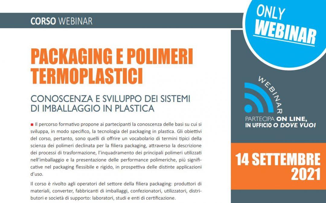 Packaging e polimeri termoplastici. Settembre 2021