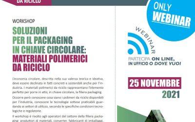Soluzioni per il Packaging in chiave circolare: materiali polimerici da riciclo. Novembre 2021